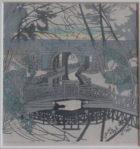 E.J. Hughes, Bridges on Beaver Creek, 1939