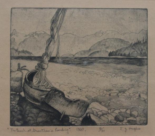 E.J. Hughes, The Beach at Grantham's Landing, 1935