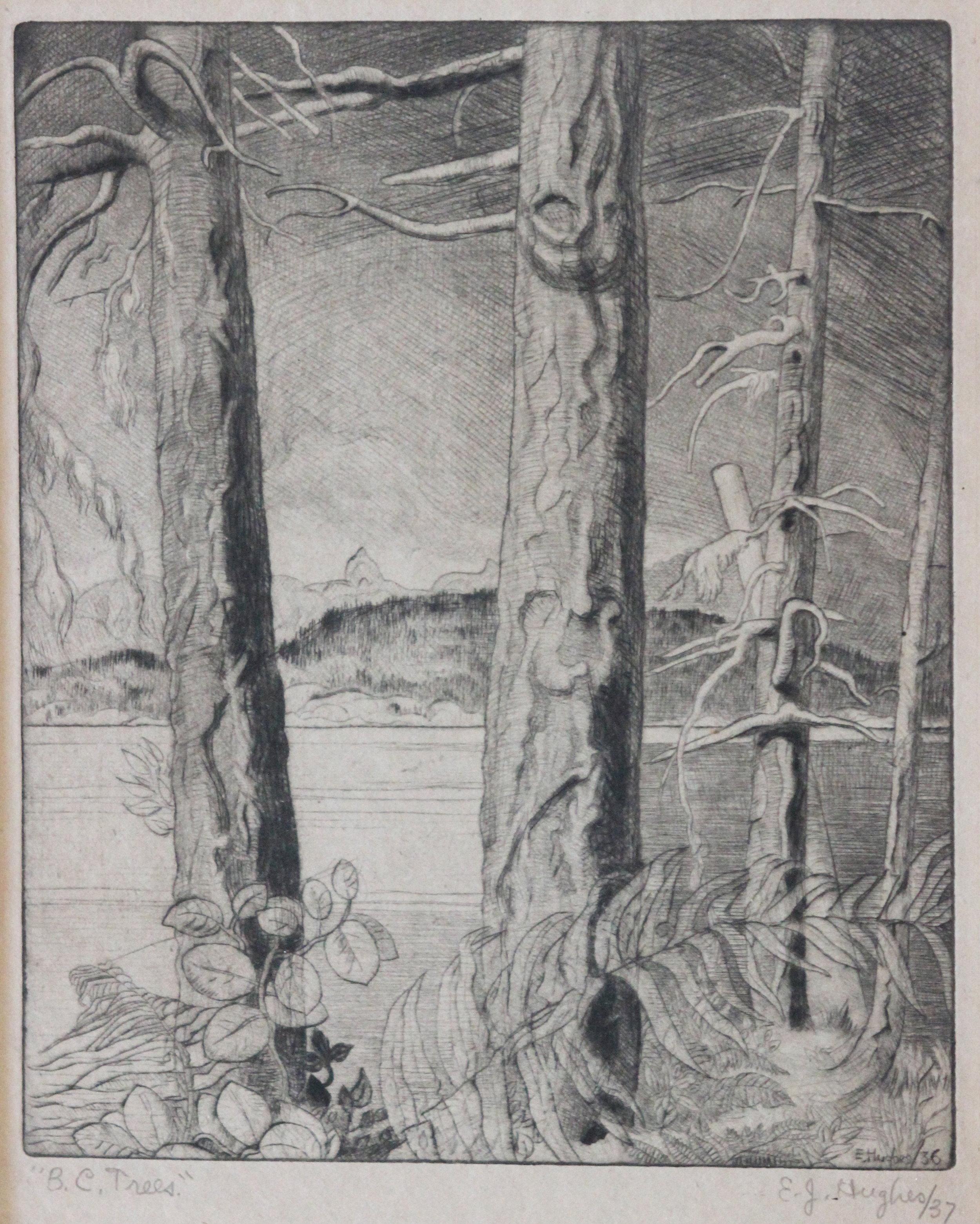 E.J Hughes, BC Trees, 1936/37