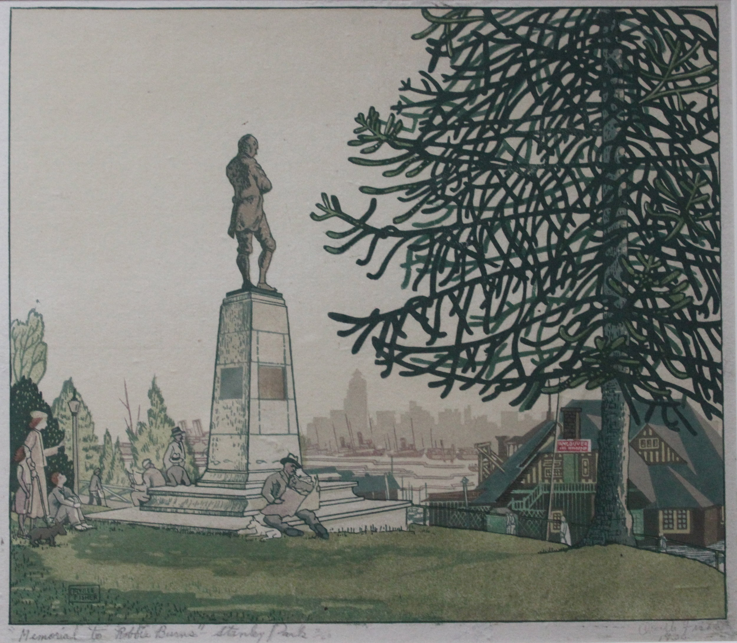 Orville Fisher, Memorial to Robbie Burns, Stanley Park, 1936