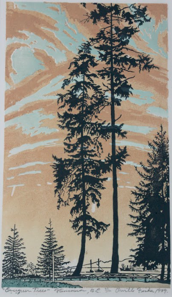 Orville Fisher, Evergreen Trees, Vancouver BC, 1939