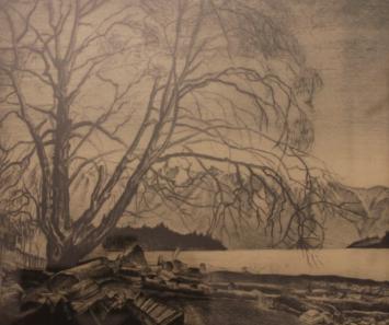 Orville Fisher, Alder Tree Grantham's Landing, West Howe Sound, 1937