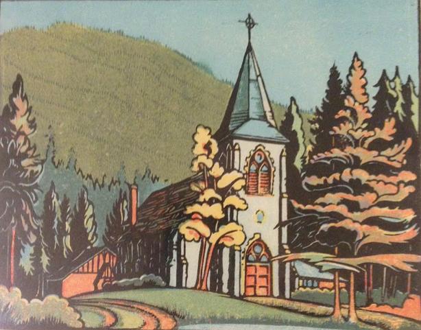 Margaret Shelton, St. Georges Church Banff, 1978