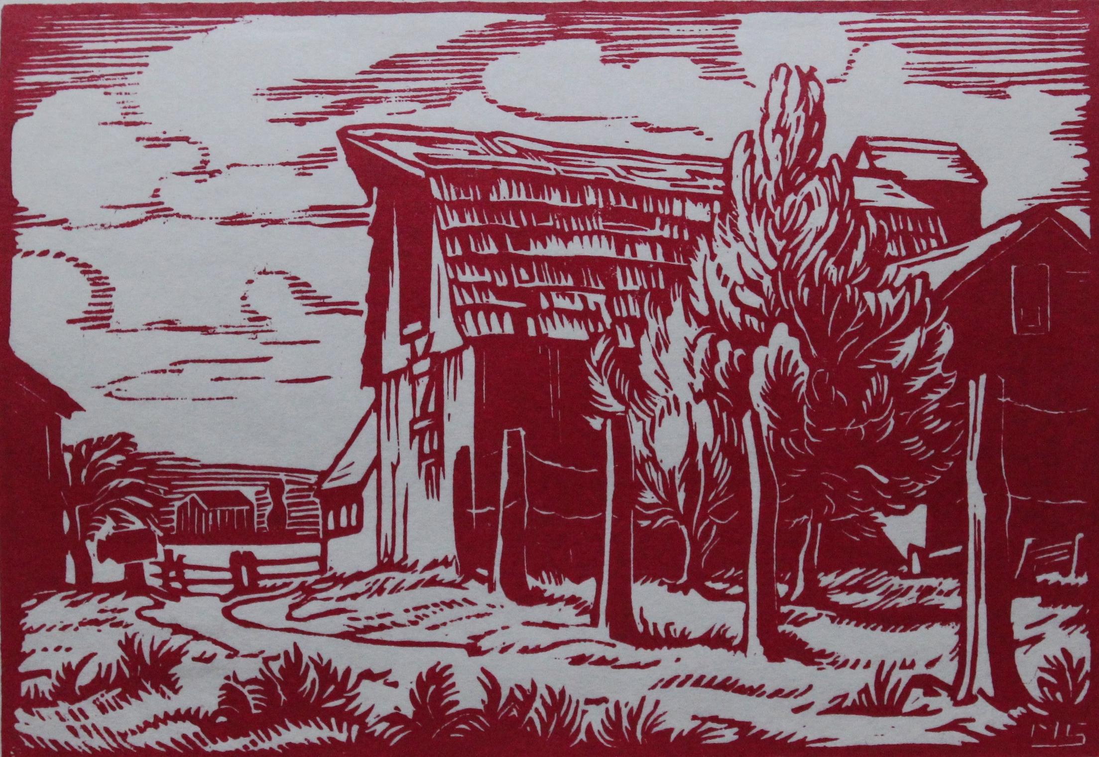 Margaret Shelton, Barn at Mission, BC, 1972