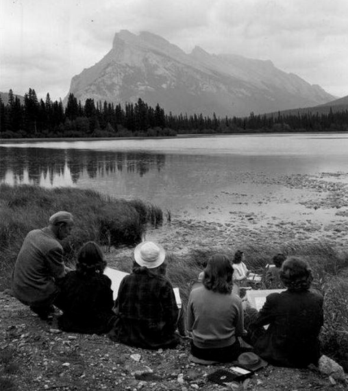 Henry Glyde and his students in Banff Photo: The Banff Centre of the Arts archives