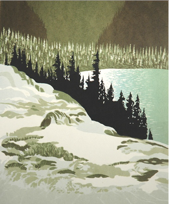 George Weber, Larix Lake, Sunshine, Banff, 1983