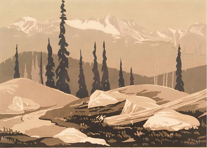 George Weber, Mount Baglie, Revelstoke, BC, 1953