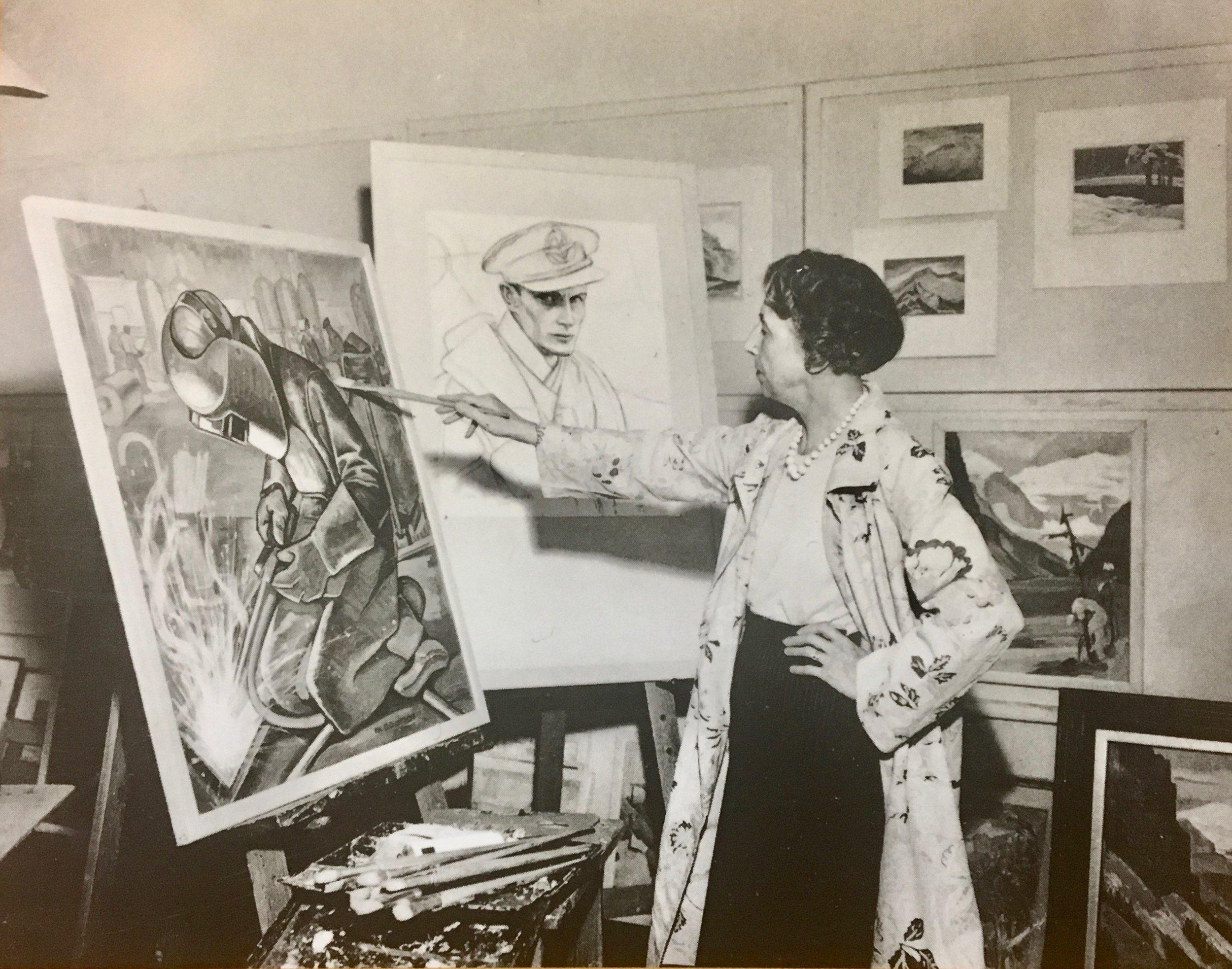Ina Uhthoff in her studio, photo courtesy of Mother Tongue Publishing