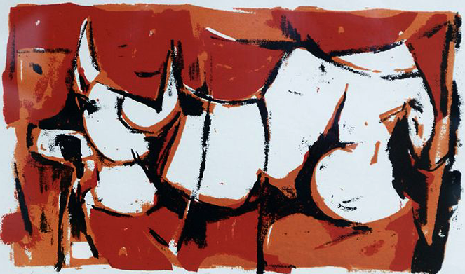 Nita Forrest, Cow, 1959