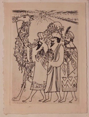 Georges Kuthan, Three Kings Christmas Card