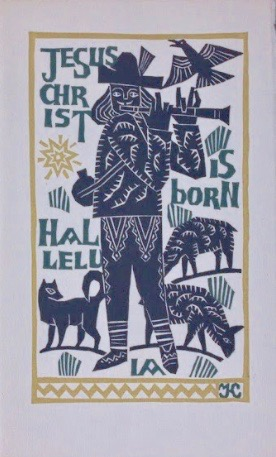 Georges Kuthan, Jesus Christ is Born Halleluia Christmas Card