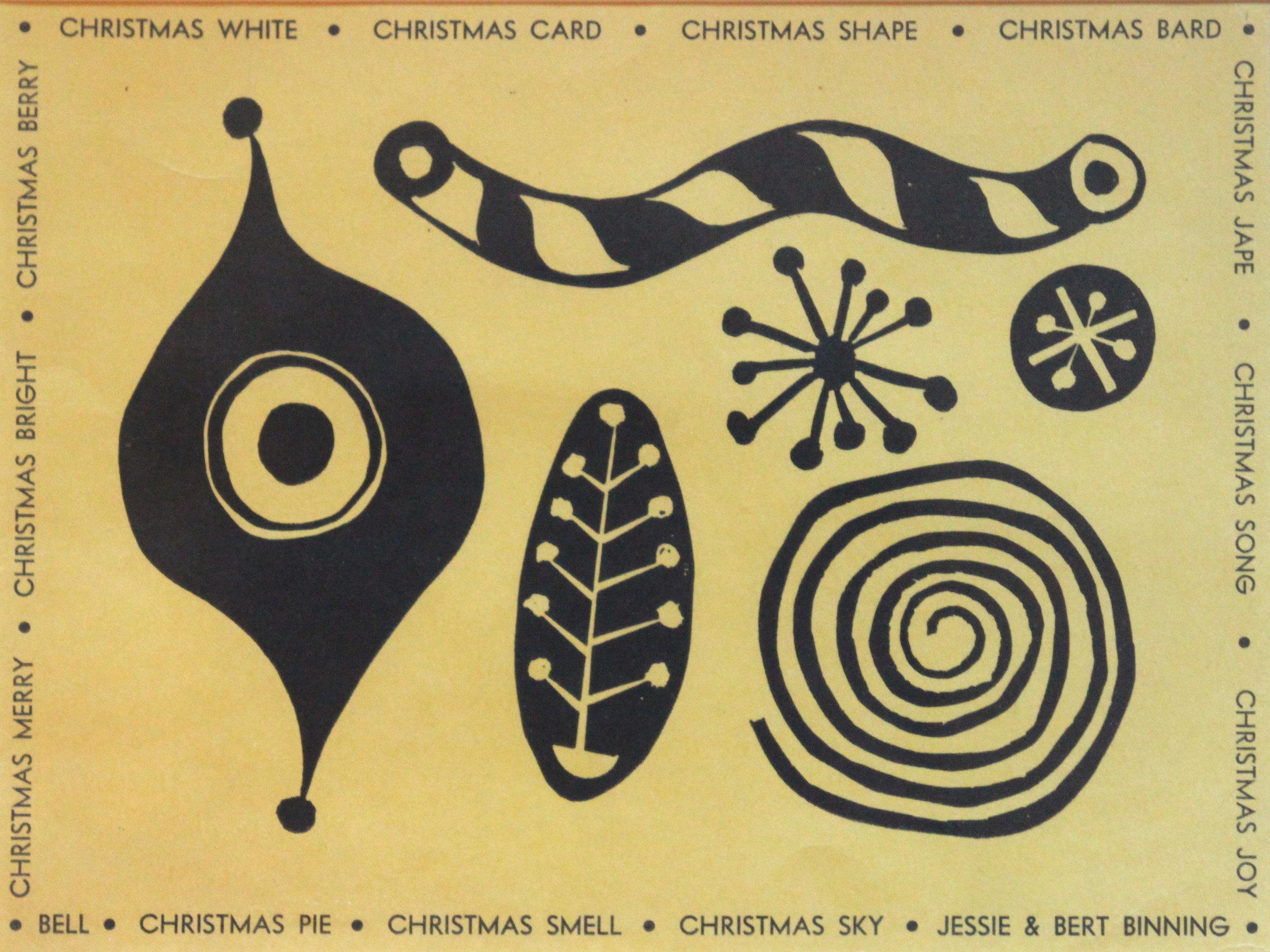 B.C. Binning, Christmas Card
