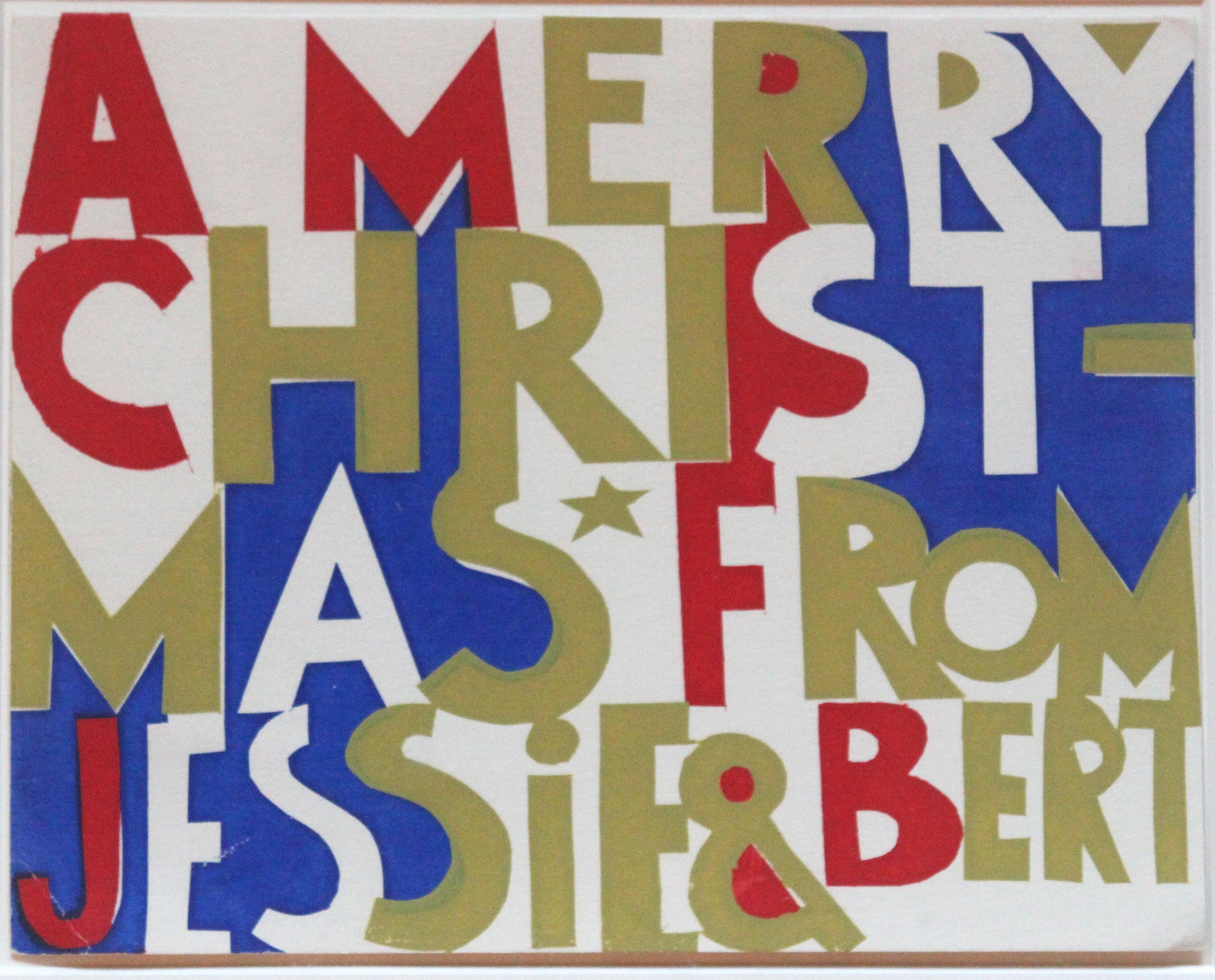 B.C. Binning, Merry Christmas From Jesse & Bert, Christmas Card