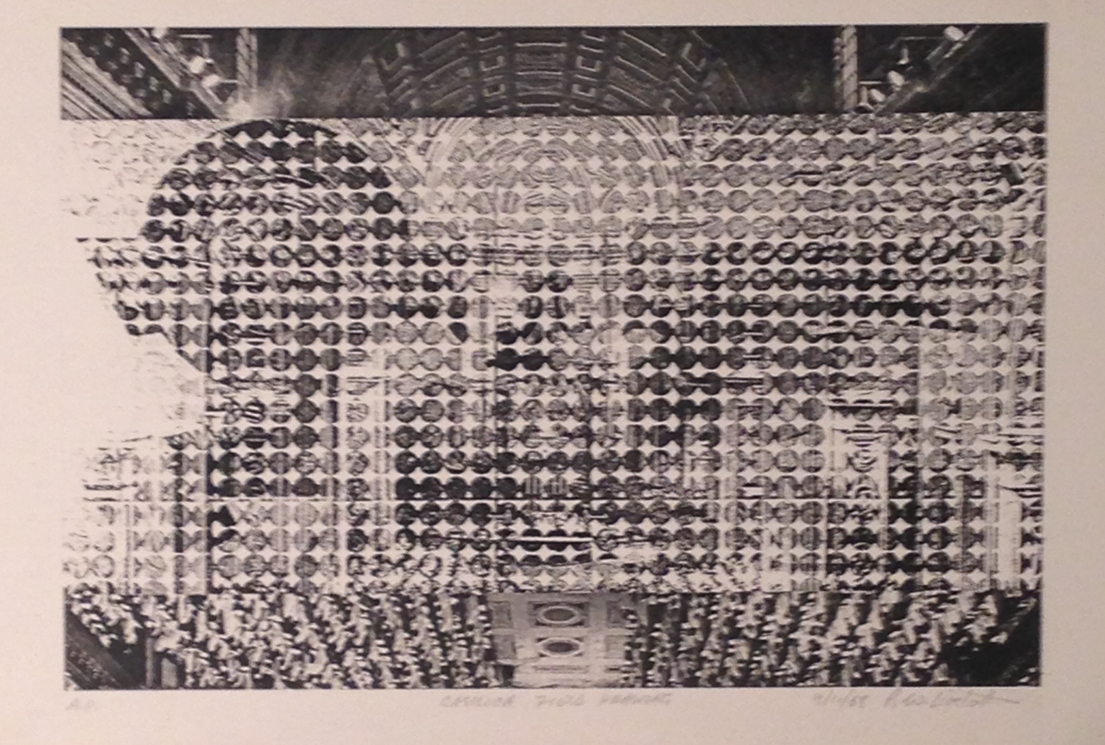 Wayne Eastcott, Basilica Field Drawing, 1968