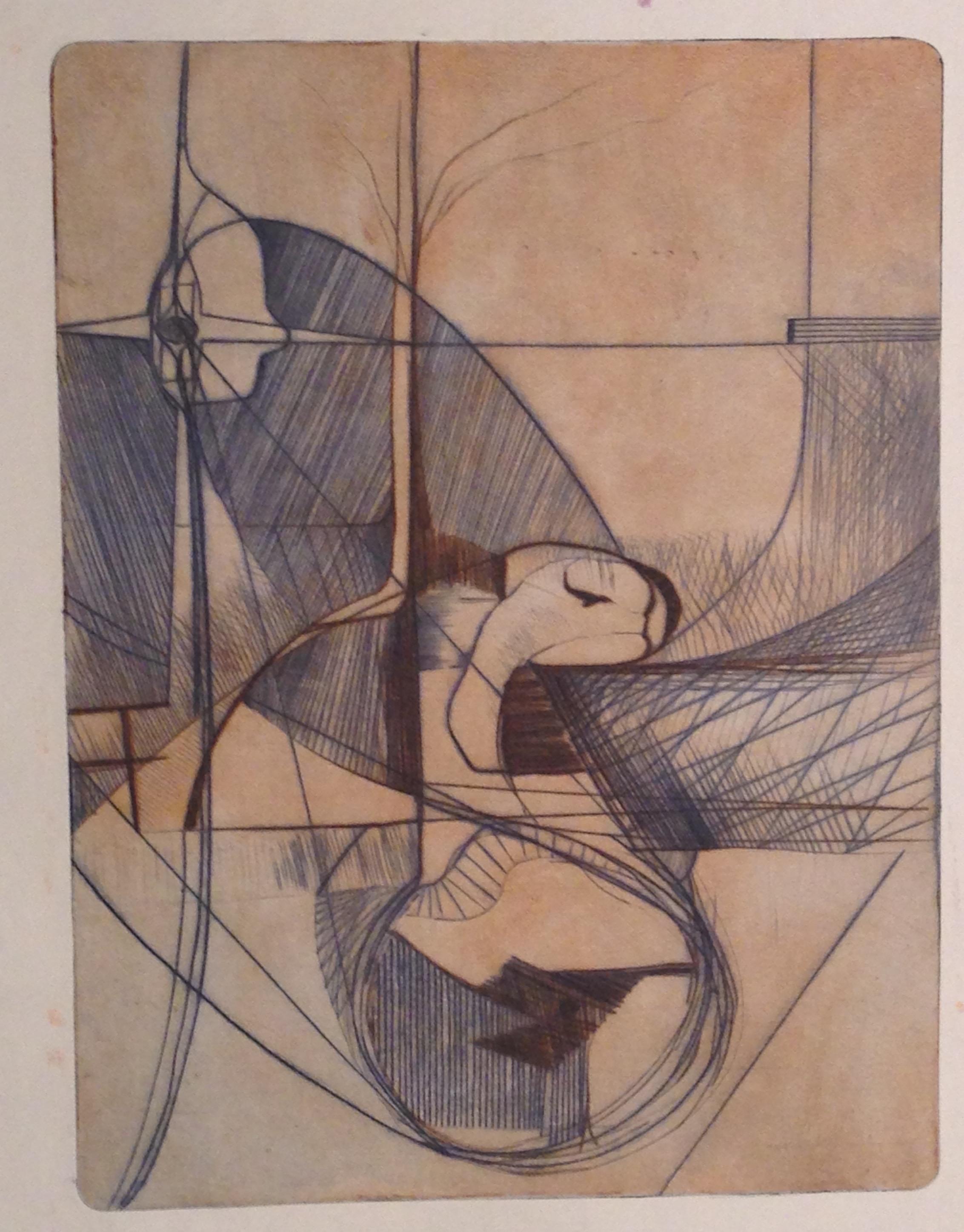 Wayne Eastcott, Untitled (Black and Blue), 1965