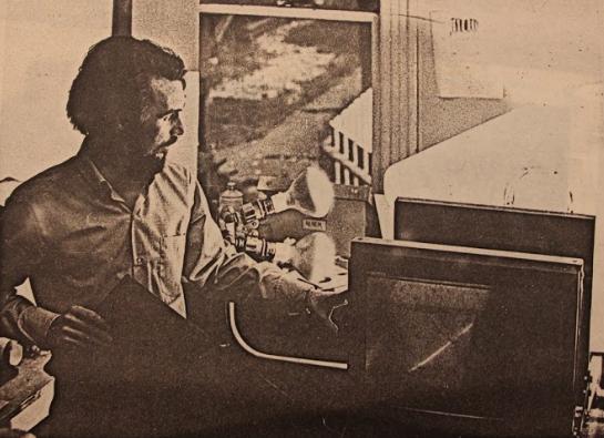 Wayne Eastcott in his studio, ca. 1970.