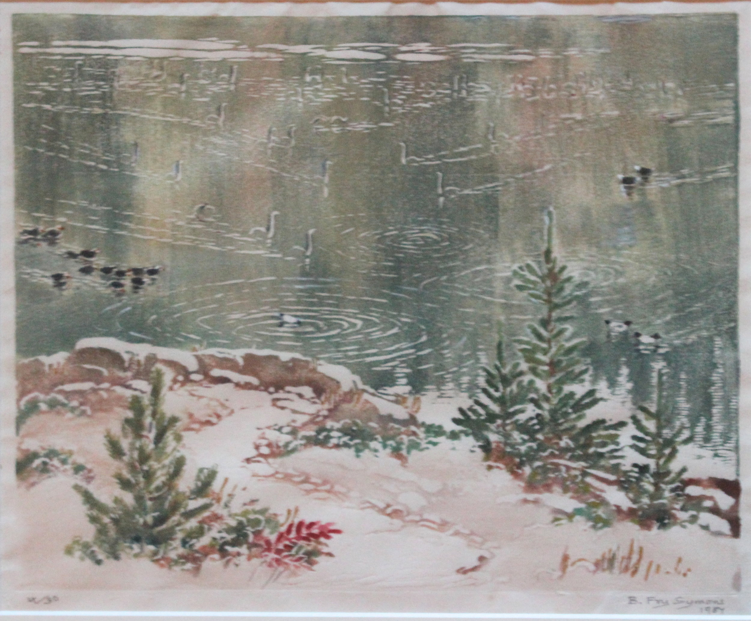 Bessie Adelaide Fry, Winter Pond, 1957