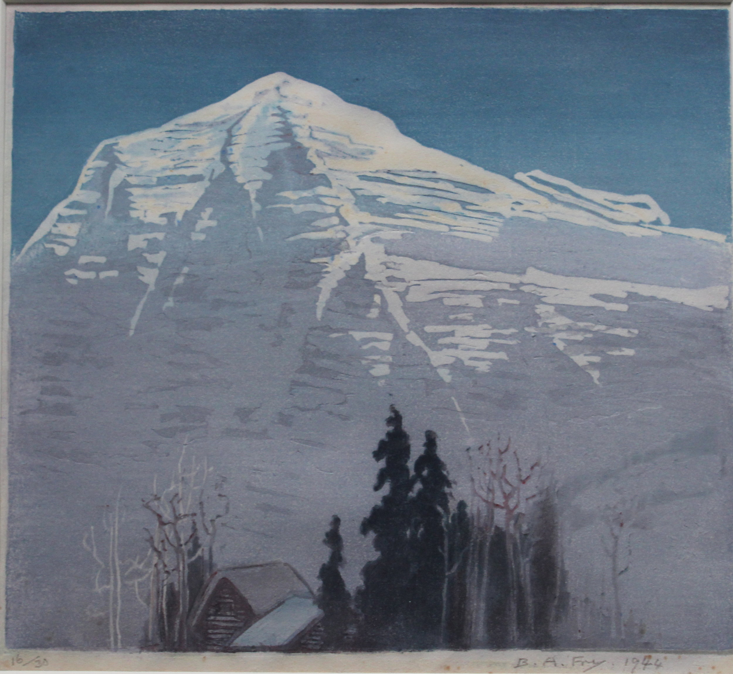 Bessie Adelaide Fry, Snow Capped Mountain,  1944