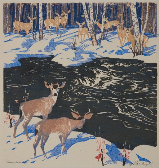 Barbara Leighton, (Barleigh), Deer Winter