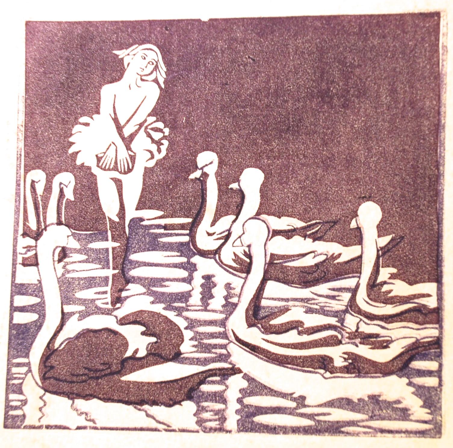 Peggy Barton, Swan Lake, (purple), ca. 1937