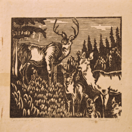 Peggy Barton, Canadian Deer, 1937