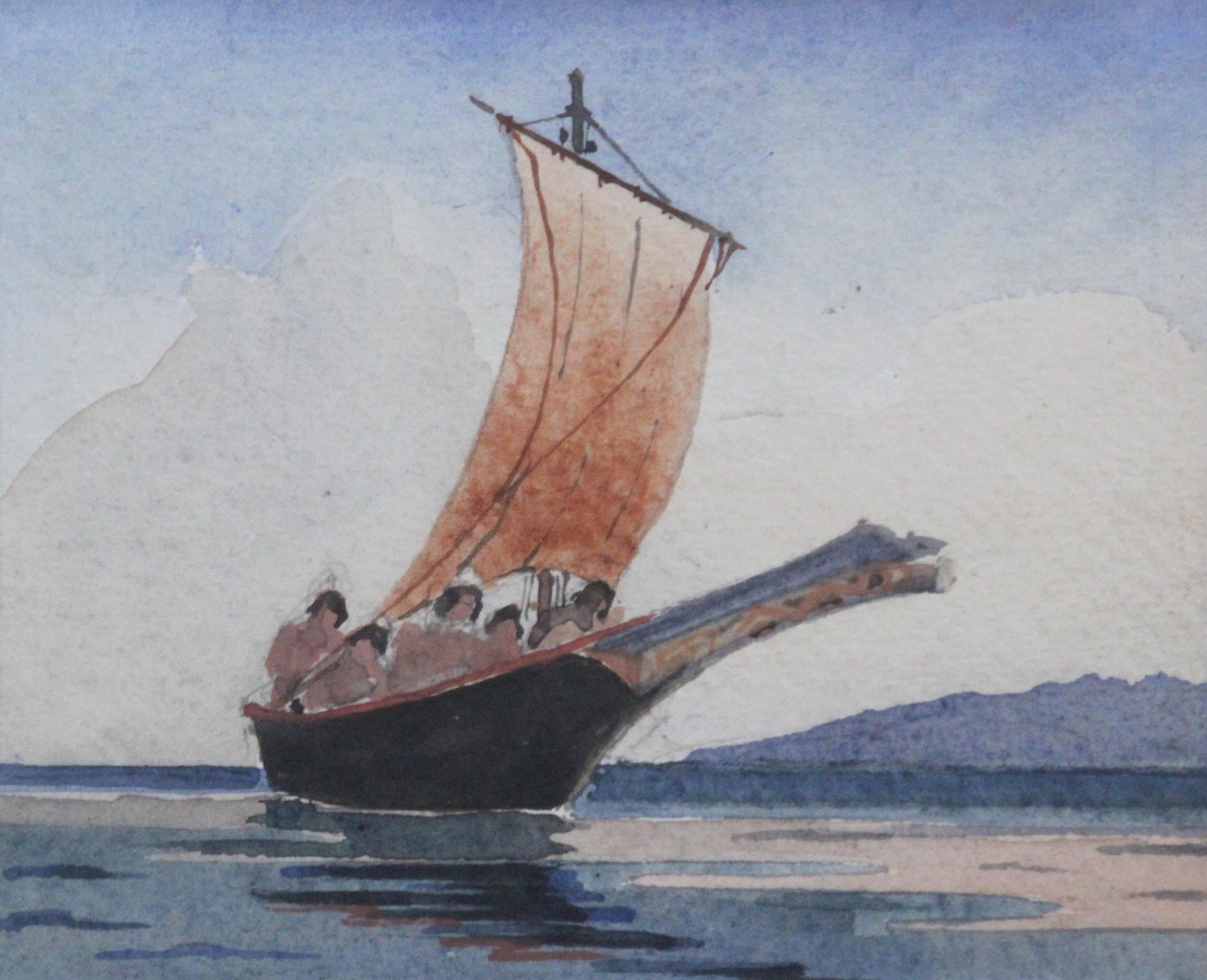 James Jervis Blomfield, Haida Boat, British Columbia