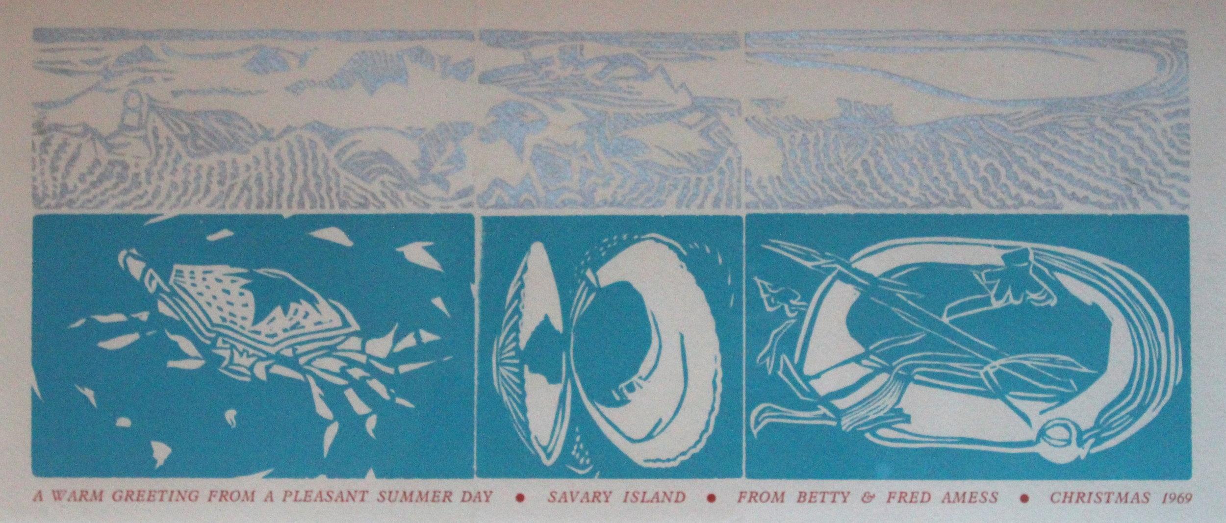 Fred Amess, Christmas Card, 1969