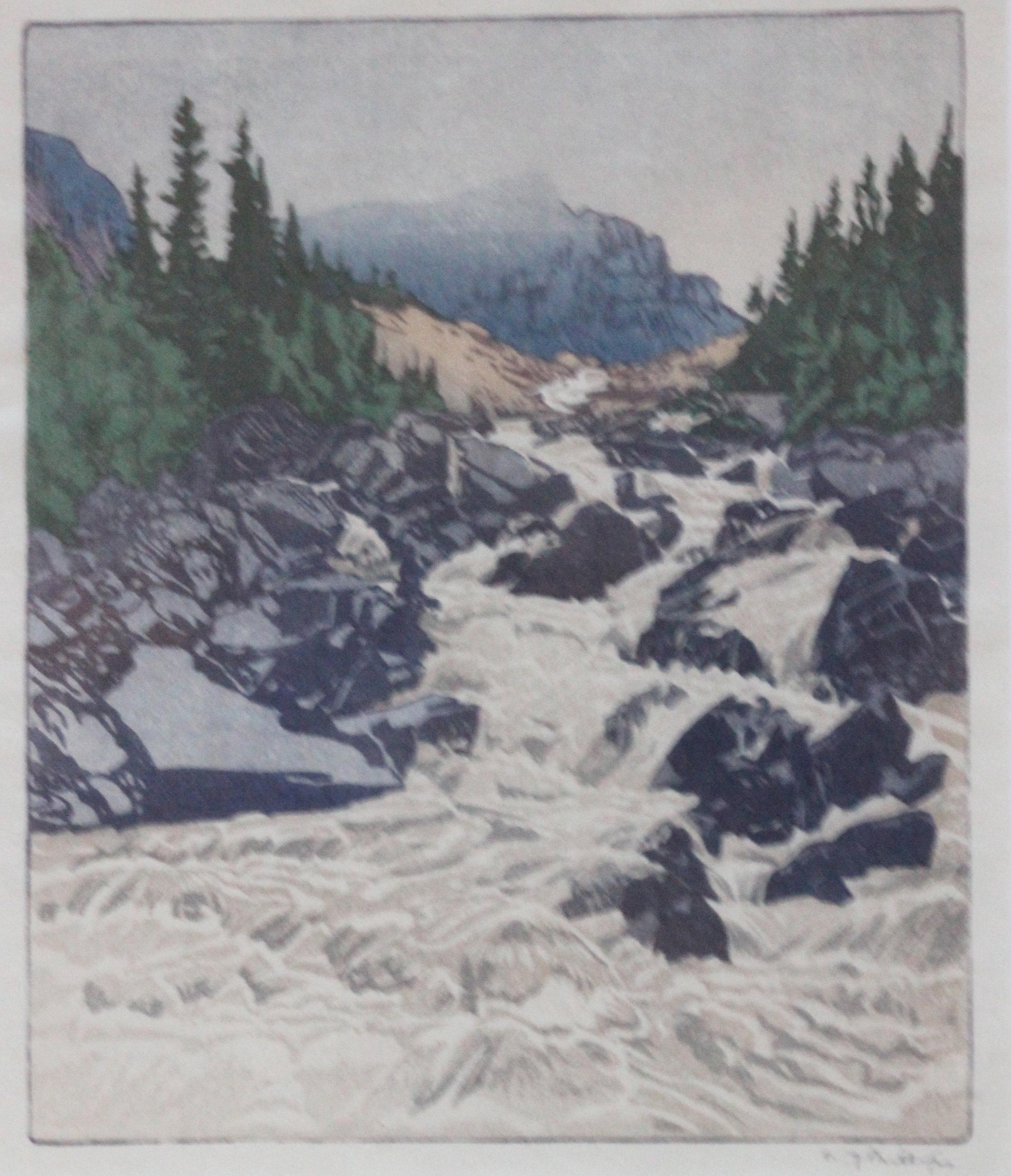 Walter J. Phillips, Above lake Louise, 1945