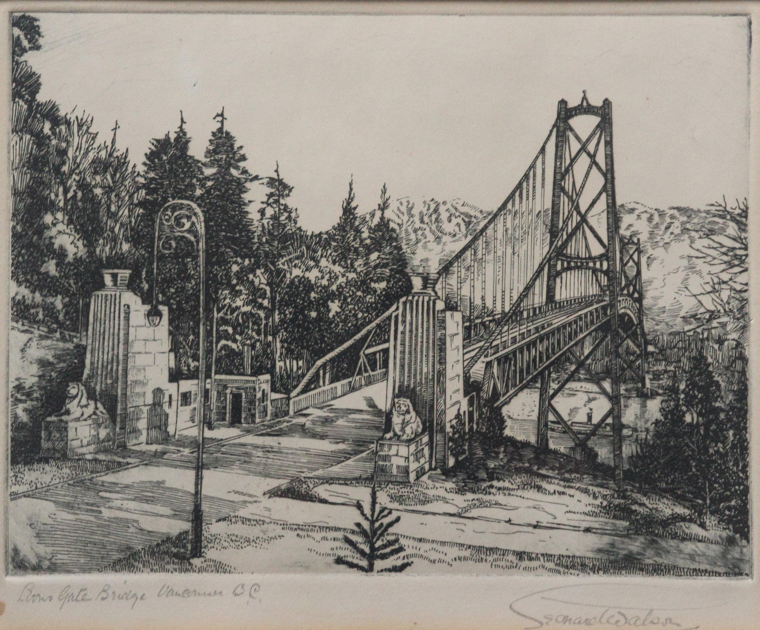 Leonard Watson, Lions Gate Bridge, Vancouver, BC