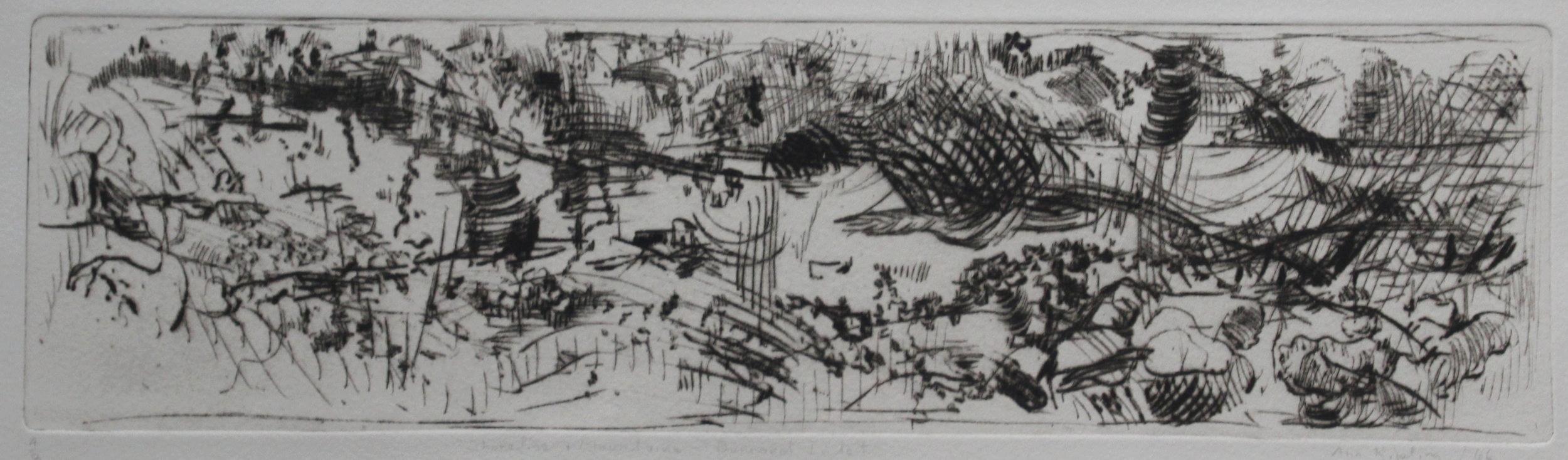Ann Kipling, Shoreline and Mountains - Burrard Inlet, 1966