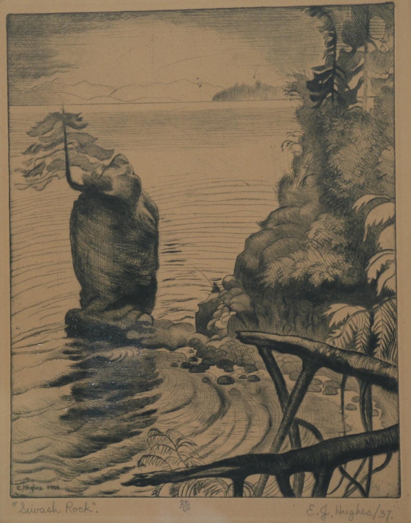 E. J. Hughes, Siwash Rock, 1935