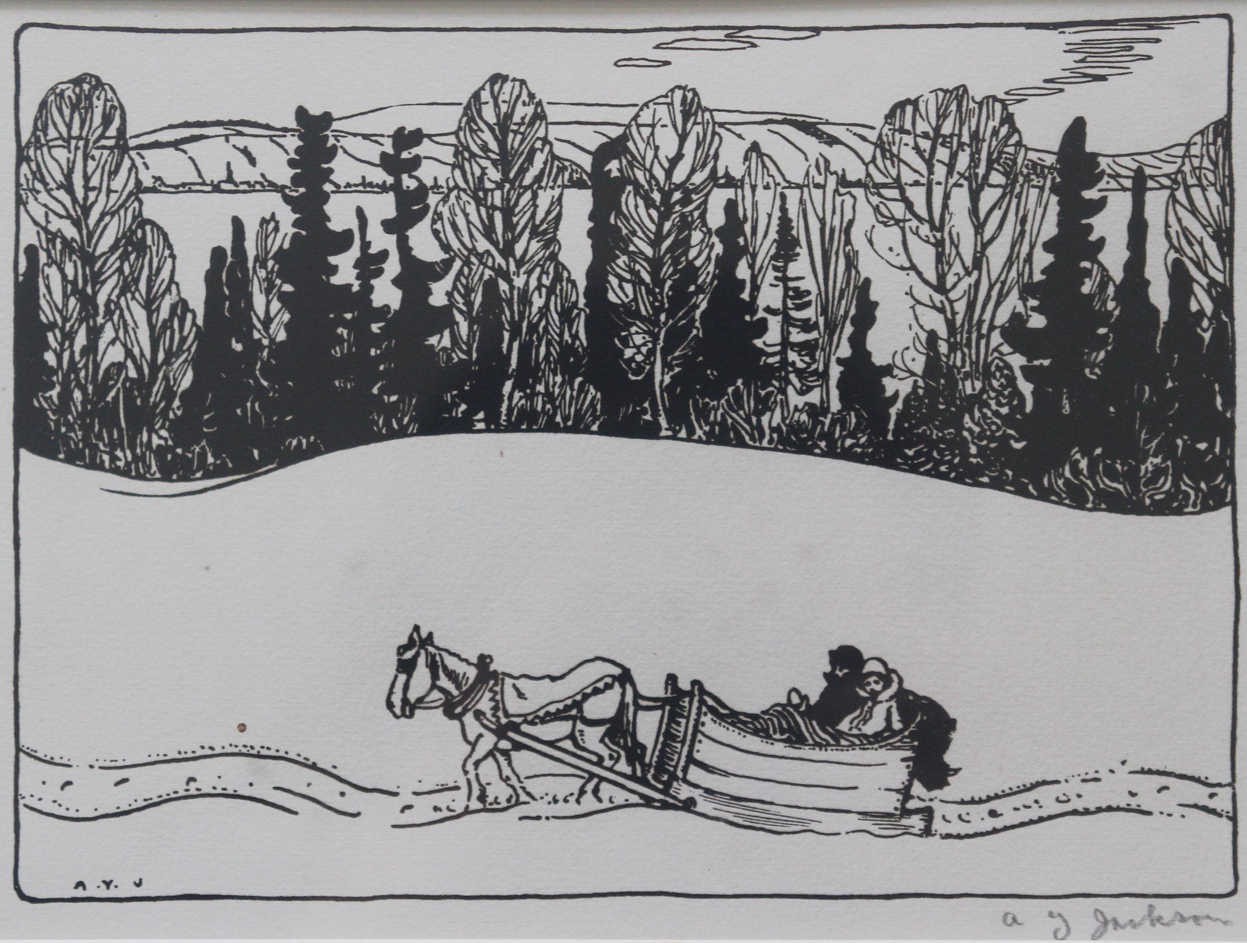 A.Y. Jackson, Winter in Quebec, 1925