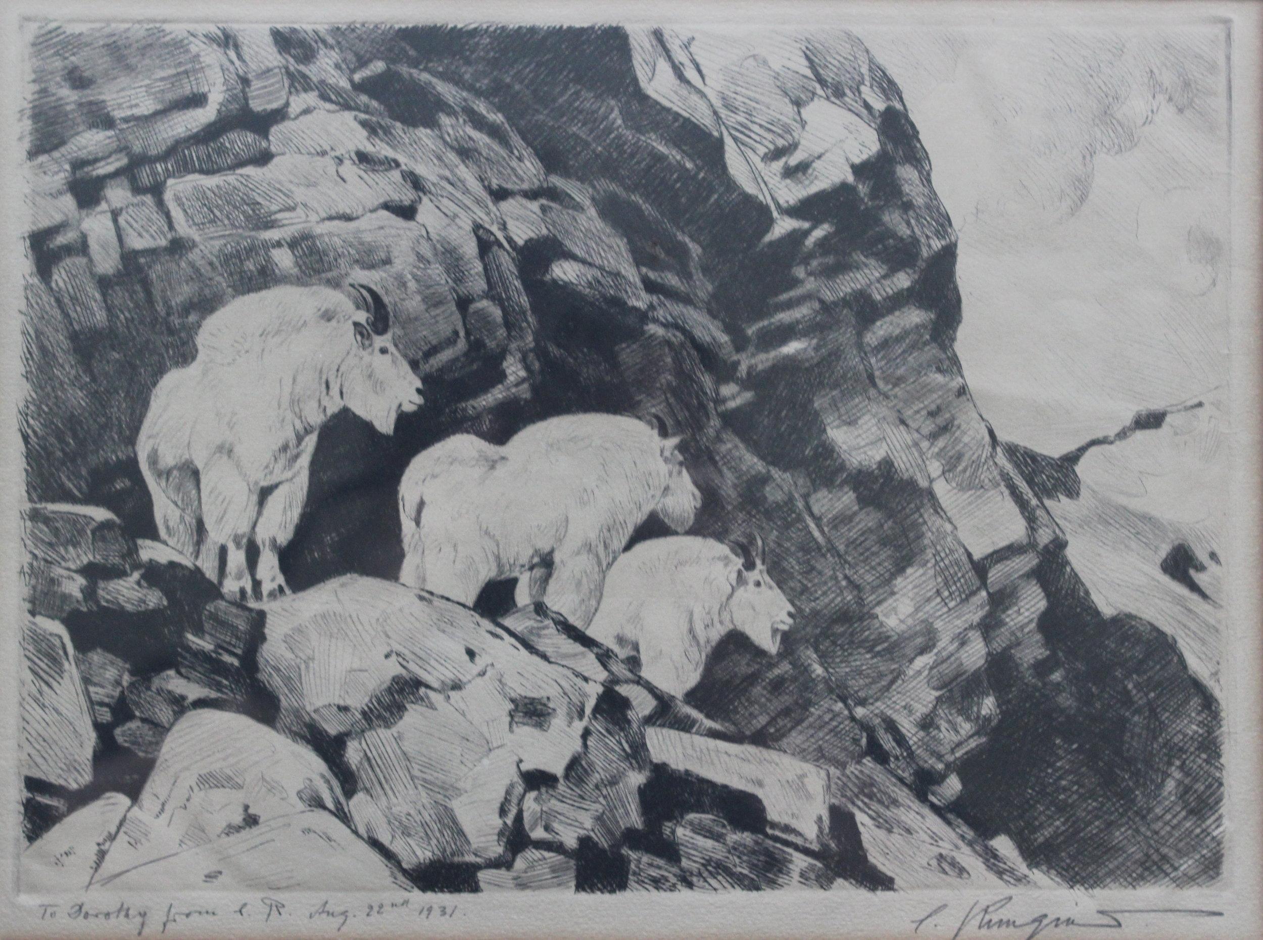 Carl Rungius, Mountain Goats, 1931