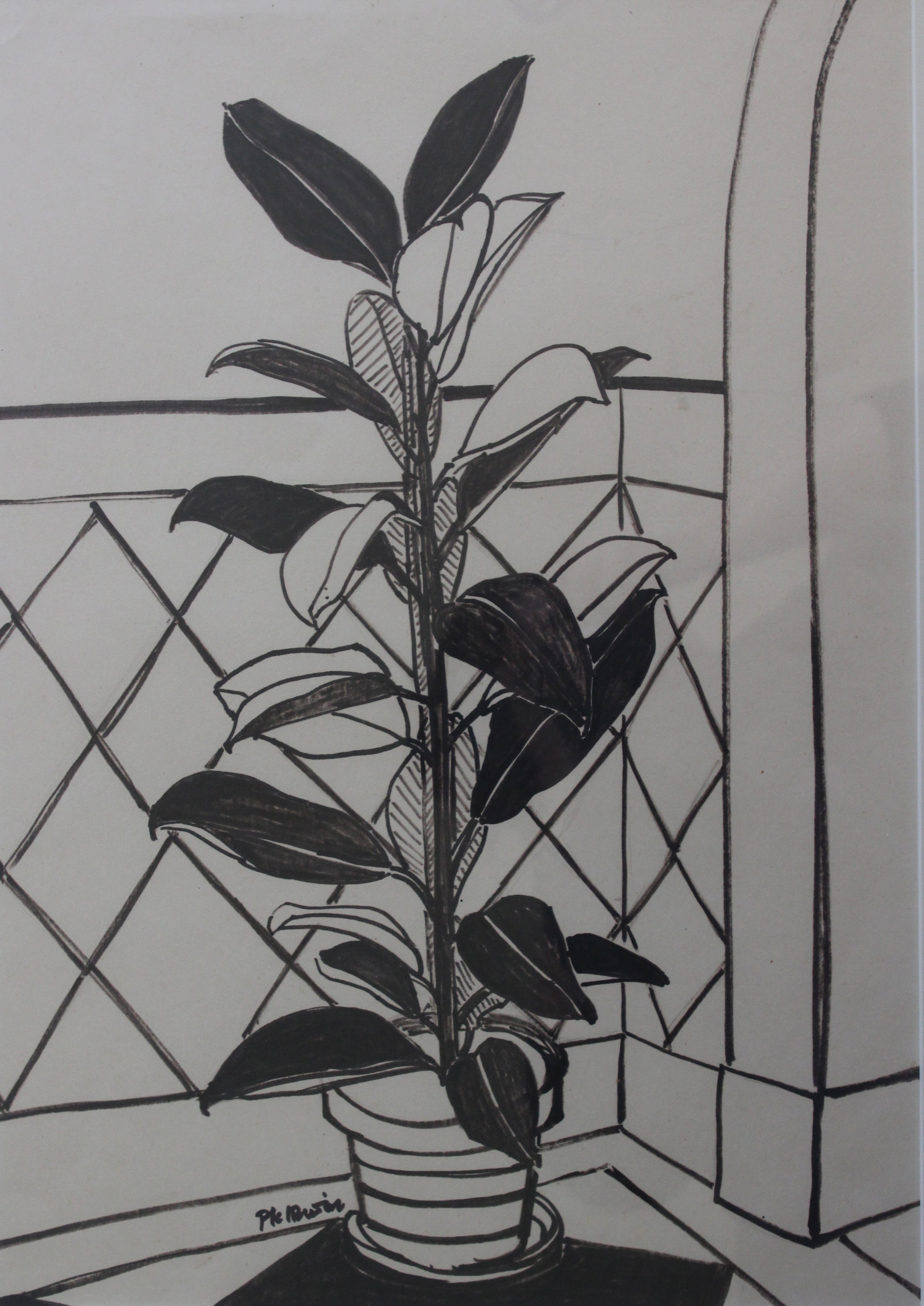 P.K. Irwin (Page), Untitled (Plant in Black Ink)