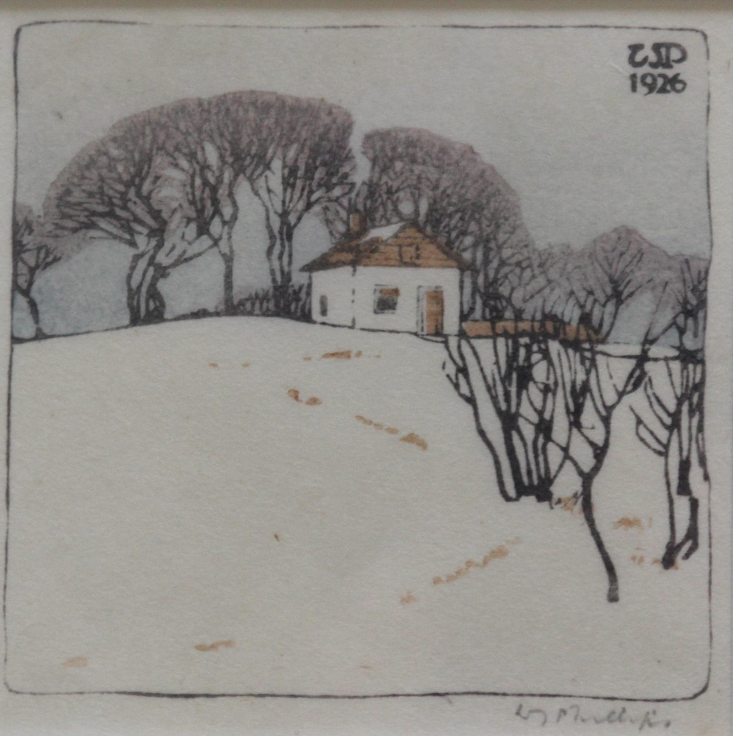 Walter J. Phillips, The Log House, 1926