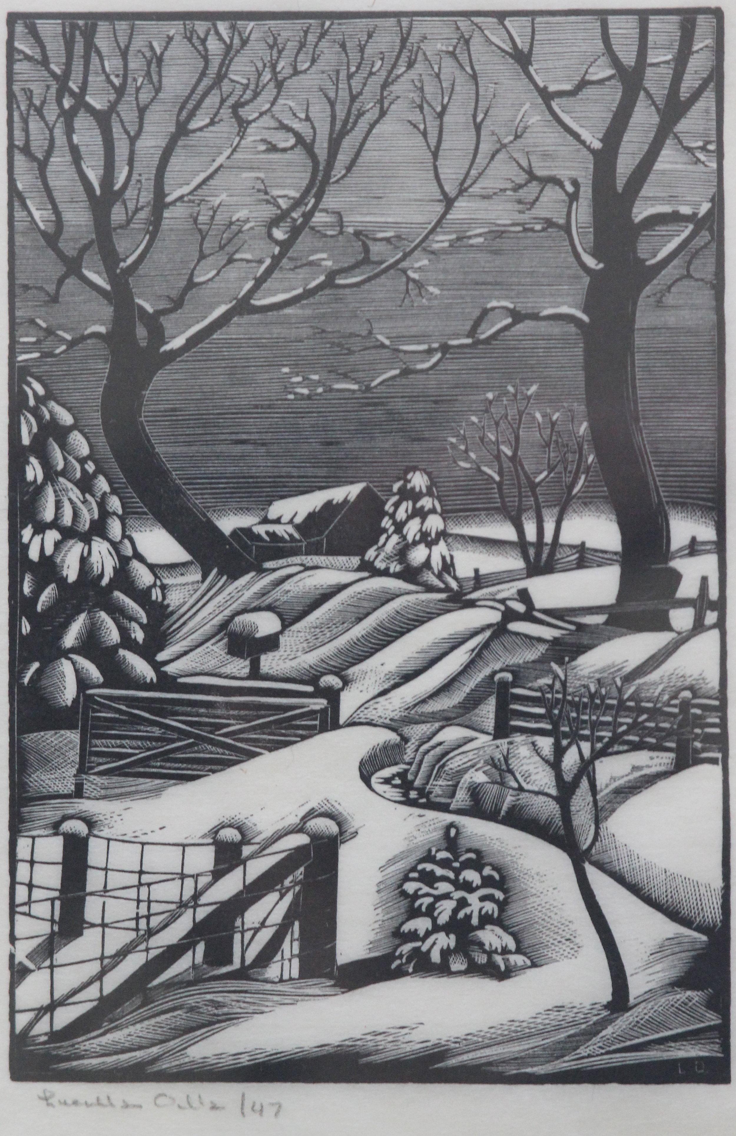 Lucille Oille, Winterscape, 1947