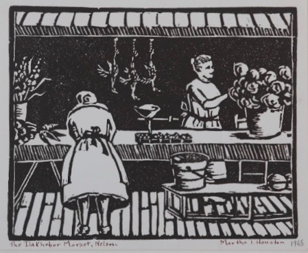 Martha Houston, The Dukhobor Market, Nelson, 1965