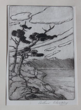 Arthur Checkley, Untitled (Coastal Scenes with Calendar), 1932