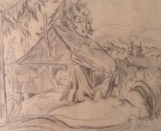 Irene Hoffar Reid, The Cabin, ca. 1930