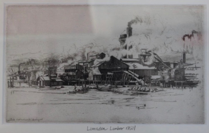Earnest Lumsden, Lumber Mill, ca. 1911
