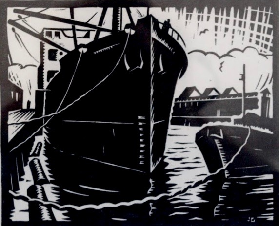 Julius Griffith, Untitled (Boats in Harbour), 1933