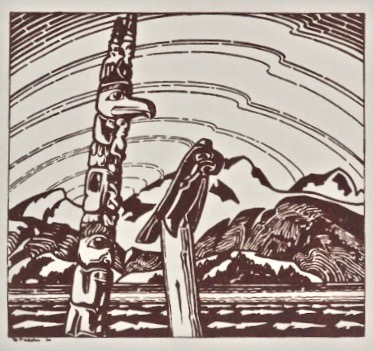 W. P. Weston, Two Totems, 1930