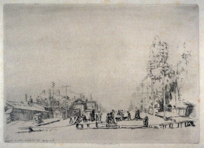 Earnest Lumsden, Douglas Street, Victoria BC, 1910