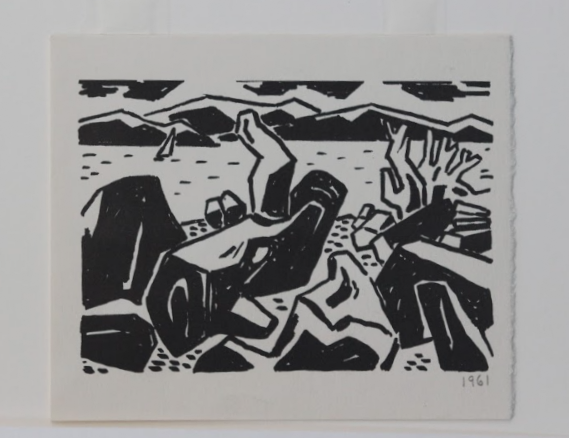 Wes Irwin, Driftwood and Rocks on Spanish Banks, 1961
