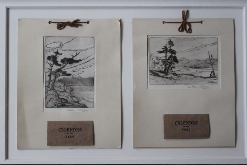 Arthur Checkley, Arthur Checkley, Untitled (Coastal Scenes with Calendar), 1932