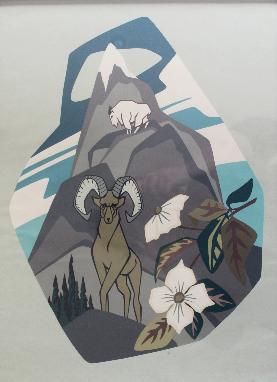 Thor Hansen, Untitled (Mountain Goat, Ram and Dogwood)