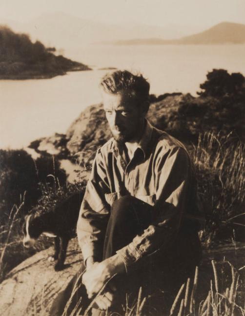 Jock Macdonald in Nootka Sound, c. 1935-36 Photo: Vancouver Art Gallery Archives