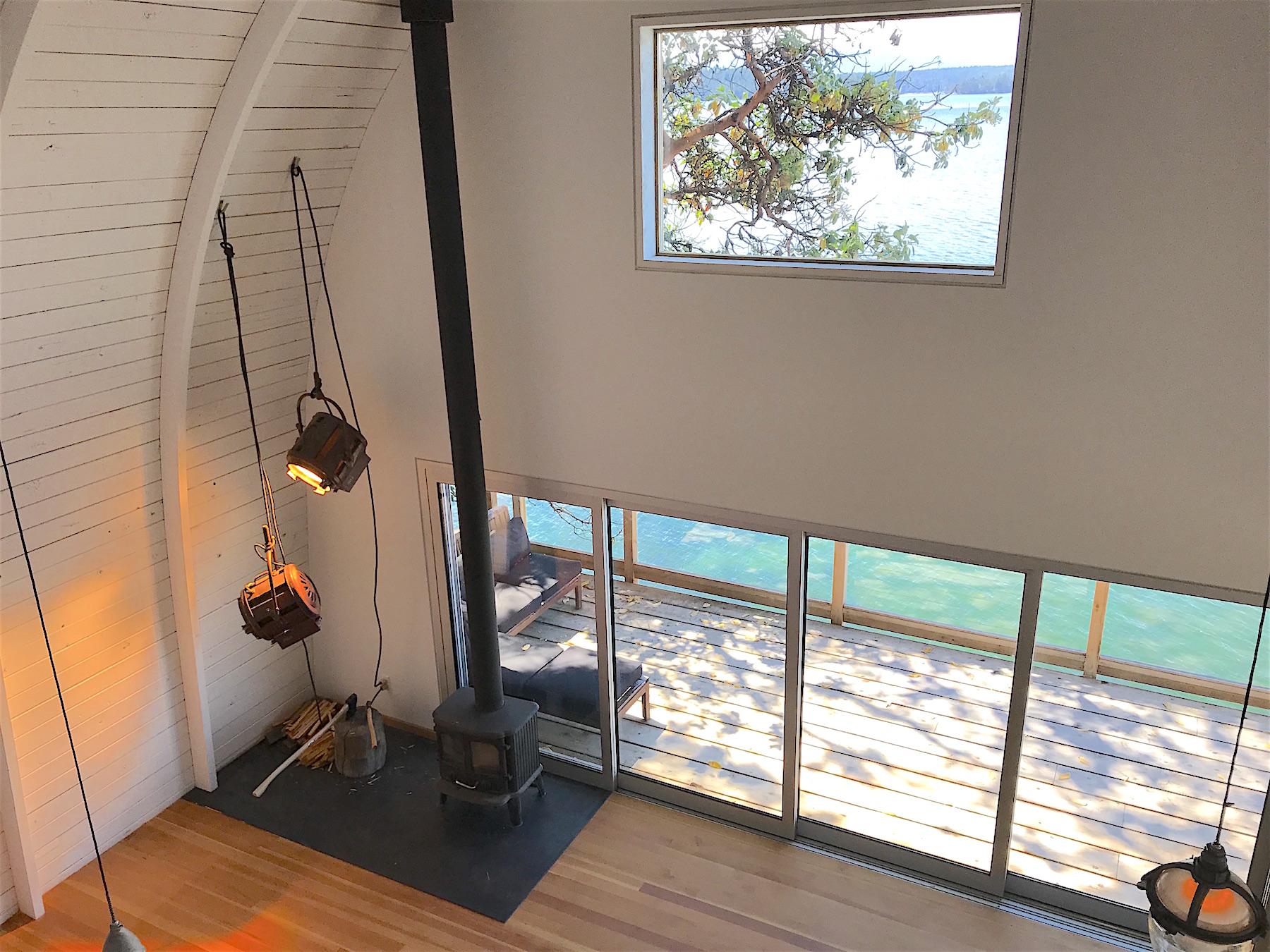 Livingroom from above H - 21455 Porlier Pass.jpeg
