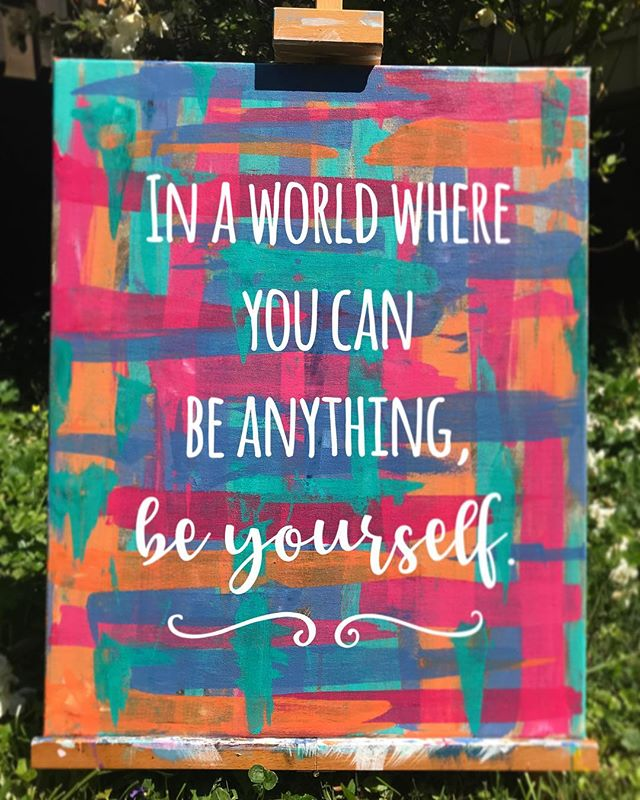 Abstract quote painting for All-Girls Camp • coming summer 2019 • register online at www.spiritedartao.com #spiritedartao #slowrelease #sampletime #summercamp2019