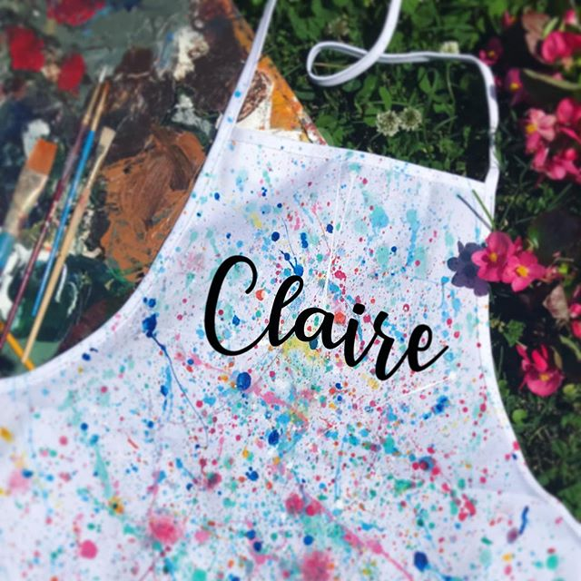 Personalized Aprons 🎨💁🏻‍♀️💁🏽‍♀️💁🏼‍♀️🤗🦄 All-Girls Camp 2019 • coming soon!! www.spiritedartao.com (register online today) .. #spiritedartao #summercamp2019 #slowrelease #sampletime